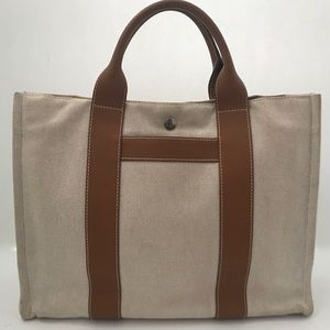 Hermès Harnais cotton tote shoulder bag
